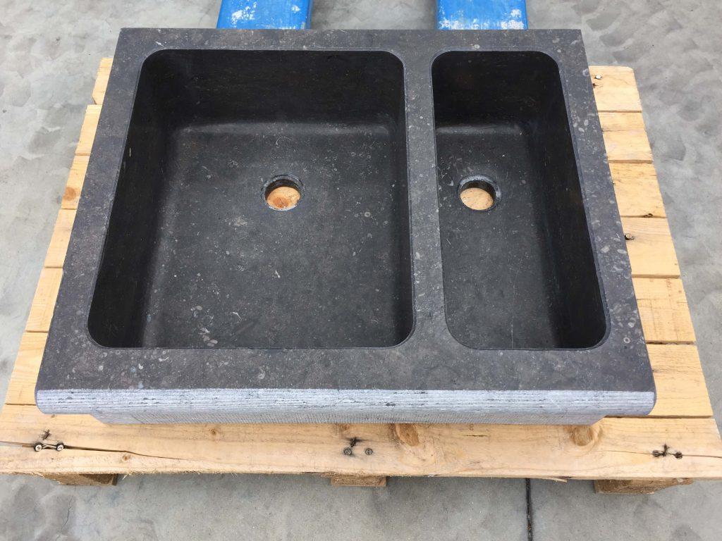 Spoelbak in Arduin Verzoet - Belgisch blauwe hardsteen