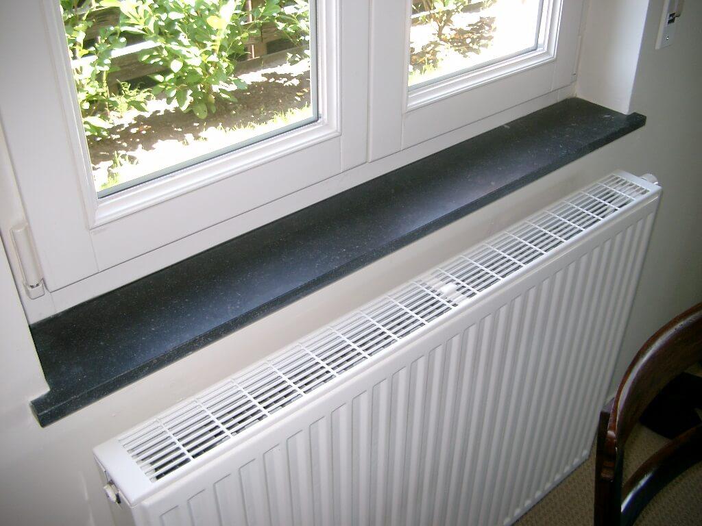 Venstertablet in Arduin Verzoet - Belgische blauwe hardsteen